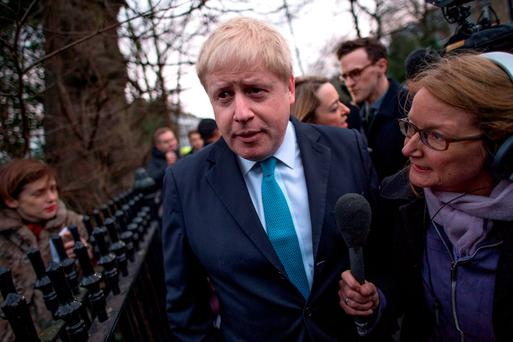 Mayor of London Boris Johnson speaks to the media outside his home in Islington, London, where he said he is to campaign for Britain to leave the European Union in the forthcoming in/out referendum. Photo: Stefan Rousseau/PA.