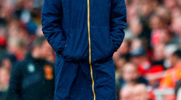 Arsene Wenger looks on during the Emirates FA Cup fifth round match between Arsenal and Hull City. Photo: Getty