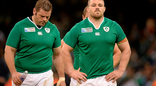 Ireland's Cian Healy, right, and Mike Ross should play their first part in this year's Championship on Saturday.