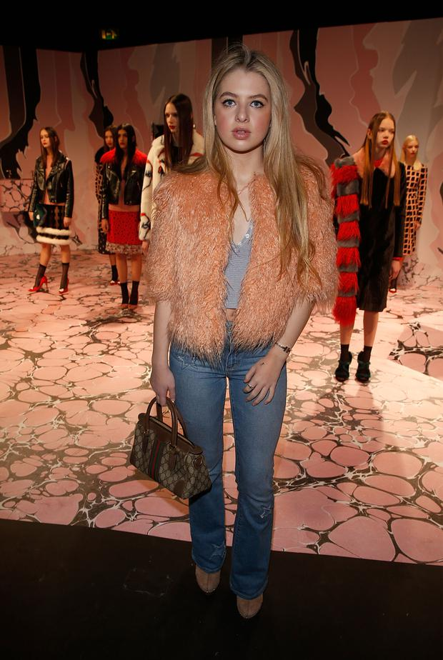 Anais Gallagher at the Shrimps presentation during London Fashion Week Autumn/Winter 2016/17 at ICA on February 20, 2016 in London, England. (Photo by Luca Teuchmann/Getty Images)