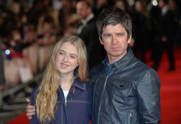 Noel Gallagher with his daughter Anais attend the