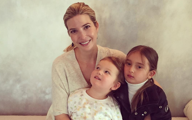 Ivanka Trump and children Arabella Rose (4) and Joseph Frederick (2). Photo: Ivanka Trump / Instagram.
