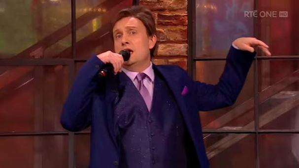 Mario Rosenstock impersonating Daniel O'Donnell on the Late Late Show