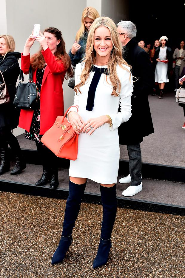 Storm Keating wearing Burberry at the Burberry Womenswear February 2016 Show at Kensington Gardens on February 22, 2016 in London, England. (Photo by Gareth Cattermole/Getty Images for Burberry)