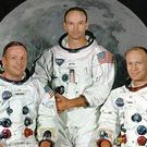 The Apollo 11 astronauts (L-R) Neil Armstrong, Michael Collins and Edward