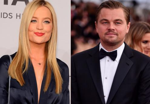 Laura Whitmore (left) and Leonardo DiCaprio (right)