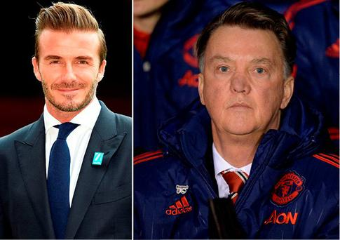 David Beckham has defended Van Gaal