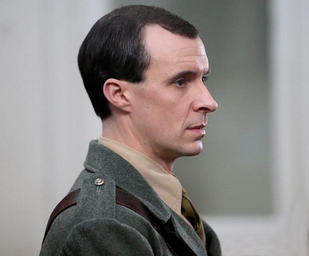 Pictured in Green Street Courthouse, Tom Vaughan Lawlor stars as Padraig Pearse in TV3s new 1916 commemorative three-part series Trial of the Century. Picture: Brian McEvoy