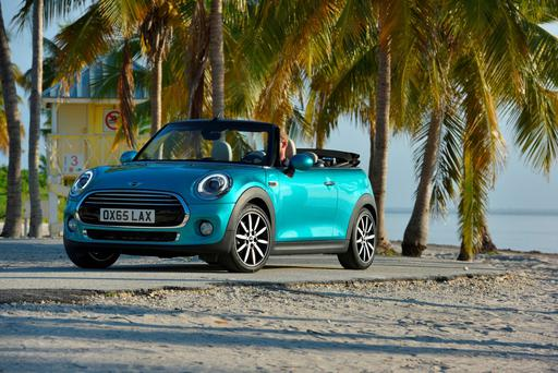 The Mini convertible - suited to warmer climes.
