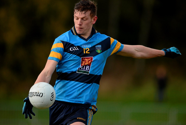 UCD's John Heslin happy to be back to play in the Sigerson Cup. Photo: Oliver McVeigh / Sportsfile.