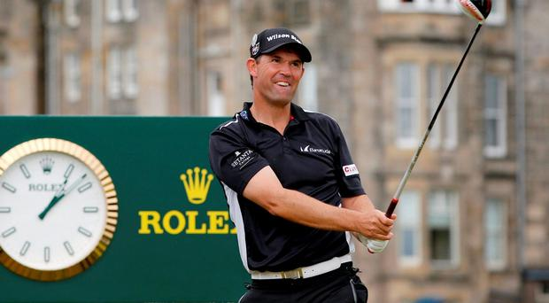 Pádraig Harrington has all but admitted that he will be a Ryder Cup back-room boy for Darren Clarke in September. ADRIAN DENNIS/AFP/Getty Images
