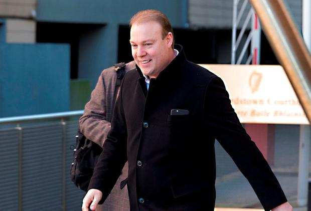 Jim Mansfield jnr. leaving Blanchardstown District Court today.
