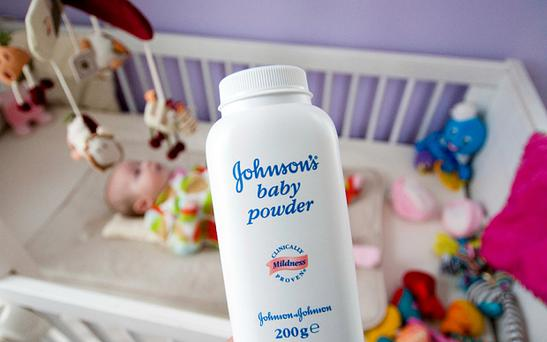 The company has long marketed the talc-based powders as feminine hygiene products, and Baby Powder is widely available in the UK Photo: Alamy