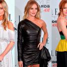 (L to R) Laura Whitmore, Rosie Huntington-Whiteley and Angela Scanlon at the 2016 Elle Style Awards in London