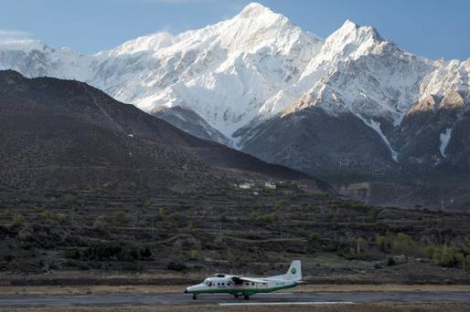 An archive picture of a Tara Airlines plane landing in Jomson, a popular resort town