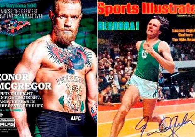Conor McGregor and Eamonn Coghlan have both appeared on the front of Sports Illustrated as has Ronnie Delany and Rory McIlroy