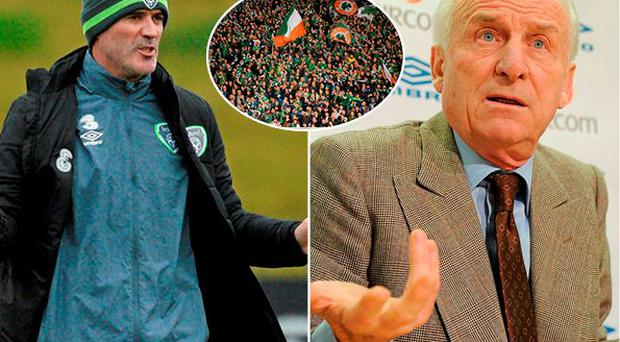 Former Ireland manager Giovanni Trapattoni has heaped praise on Roy Keane and the Irish football fans