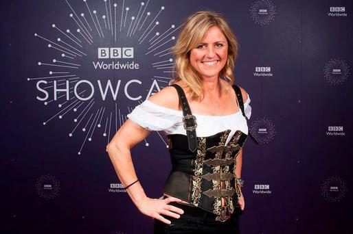 Sabine Schmitz at the Top Gear launch. PIC: BBC