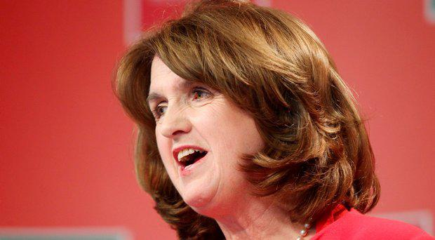 Tanaiste Joan Burton pictured at Labour HQ