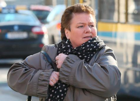 Angela Whelan, of Church View, Nurney, Co. Kildare pictured leaving the Four Courts yesterday. Photo: Collins Courts