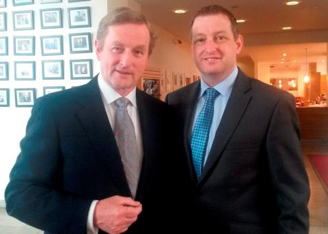 Enda Kenny pictured with John McNulty