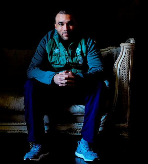 Simon Zebo relaxes at Carton House: David Maher / SPORTSFILE