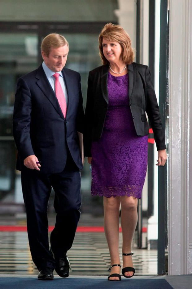 Taoiseach Enda Kenny and Tánaiste Joan Burton. Photo: Mark Condren