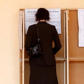 Ireland prepares for voting as polls open today at 7am. Photos: Andrew Winning/Reuters