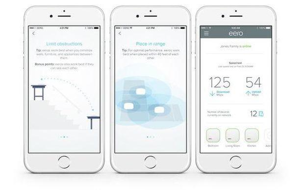 The Eero app helps with setup, lets you check speeds, add friends and see what devices are connected Credit: Eero