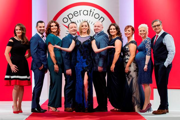 Pictured at the Operation Transformation 2016 finale filmed in RTÉ this week were Dr Ciara Kelly, Karl Henry, Lucy Dillon, John Conmy, Kathryn Thomas, Dan Kennedy, Clare Scanlan, Noeleen Lynam, Aoife Kennedy and DR Eddie Murphy. Picture Andres Poveda