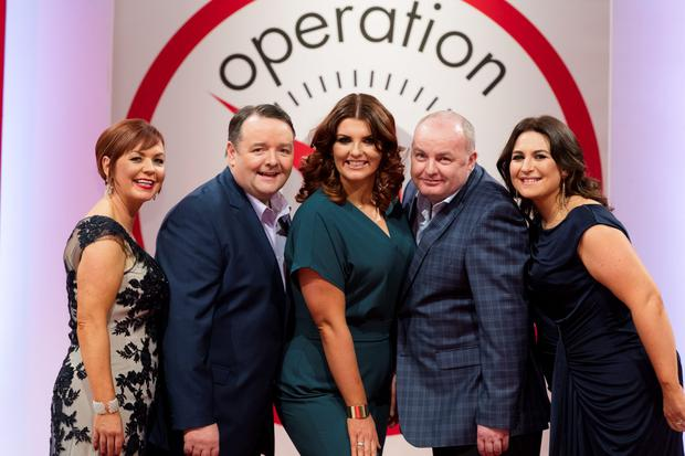 Pictured at the Operation Transformation 2016 finale filmed in RTÉ this week were Noeleen Lynam, John Conmy, Lucy Dillon, Dan Kennedy and Clare Scanlan. Picture Andres Poveda