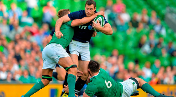 Tim Visser in action against Ireland last year