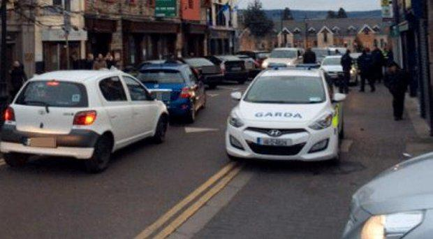 Gardai in Rathfarnham village today