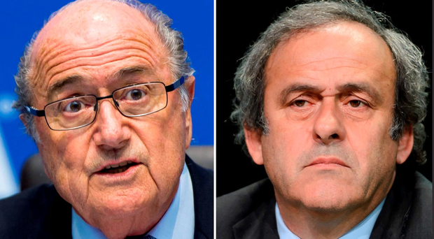 Sepp Blatter (L) and Michel Platini were both suspended by FIFA