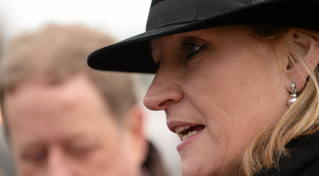 Trainer Sandra Hughes took the Michael Purcell Memorial Novice Hurdle at Thurles with Acapella Bourgeois. Photo: Brendan Moran / Sportsfile.