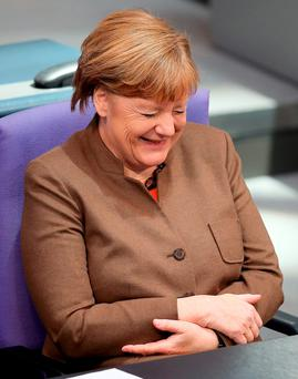 When you are broadly Christian Democratic in outlook, it has become very hard to find a party in Ireland to vote for. Above: Angela Merkel's Christian Democrat party, along with Fine Gael, is a member of the European People's Party. Photo: Wolfgang Kumm/dpa via AP