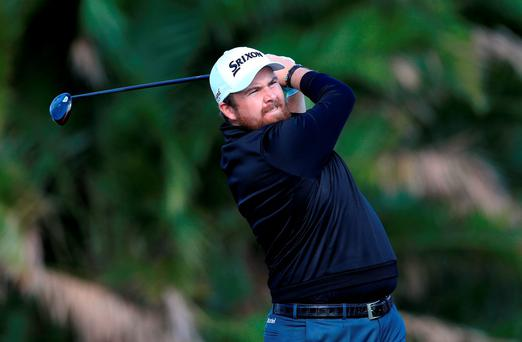 Shane Lowry plays a shot on the 8th hole during the first round of The Honda Classic at PGA National Resort and Spa in Florida. Photo: Sam Greenwood/Getty Images.