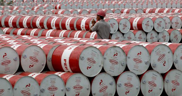 The price of a barrel of oil fell as much as 3pc yesterday. Photo: Reuters