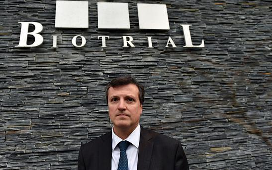 Biotrial general director Francois Peaucelle Photo: AFP
