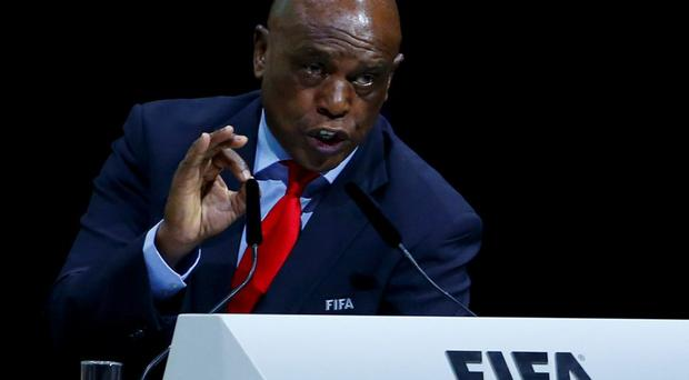 FIFA presidential candidate Tokyo Sexwale of South Africa