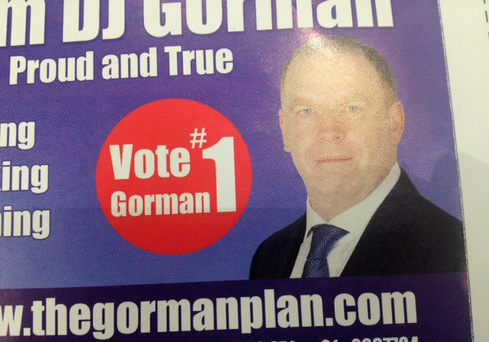 Mr Gorman's election leaflet