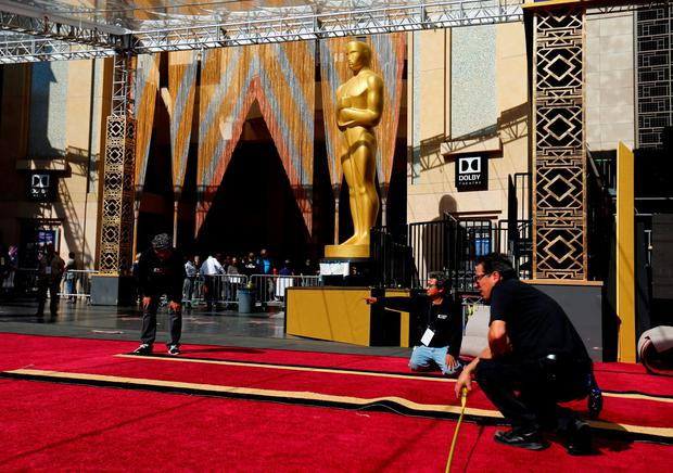 Putting on the ritz: 3,300 people will be seated in the Dolby Theatre for the Oscars, while 37 million Americans will tune in from home.
