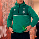 Johnny Sexton walks out at Twickenham for Ireland's captain's run ahead of today's Six Nations showdown with England. Photo: Brendan Moran/Sportsfile