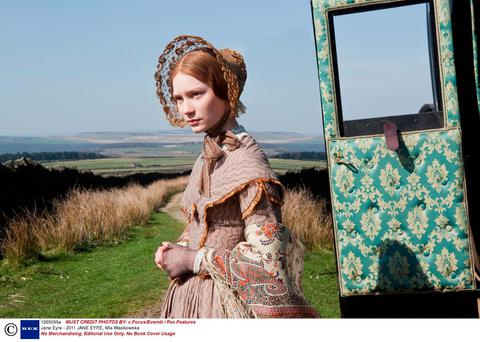 Swimming against the tide: Mia Wasikowska as Jane Eyre in the 2011 film of the same name.