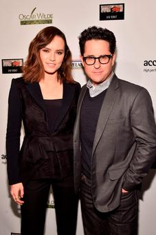 Attendees at the Oscar Wilde Awards in the US included 'Star Wars' director JJ Abrams and star Daisy Ridley. Photo: Getty