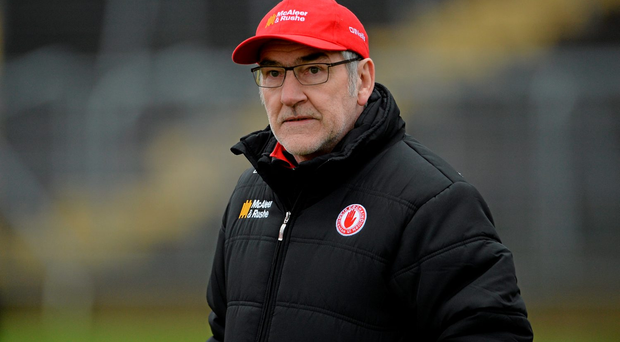 Mickey Harte is once again in the middle of rebuilding the Tyrone team (SPORTSFILE)