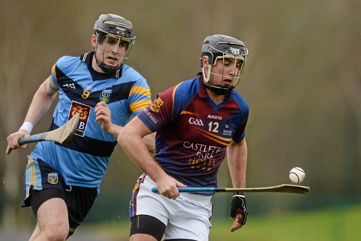 Conor Martin, University of Limerick, in action against Seán Moran, University College Dublin (SPORTSFILE)
