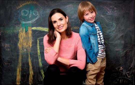 Time for me: Alison Canavan, with her son James, has gone through five years of painful self-discovery, but she says she is now in a much happier place in life. Photo: David Conachy