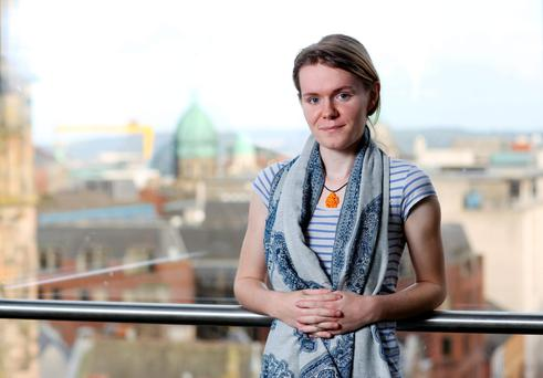 The unlikely candidate: 'Even a year-and-a-half ago I wouldn't have been able to do something like this interview' - Ellen Murray. Photo: Darren Kidd.