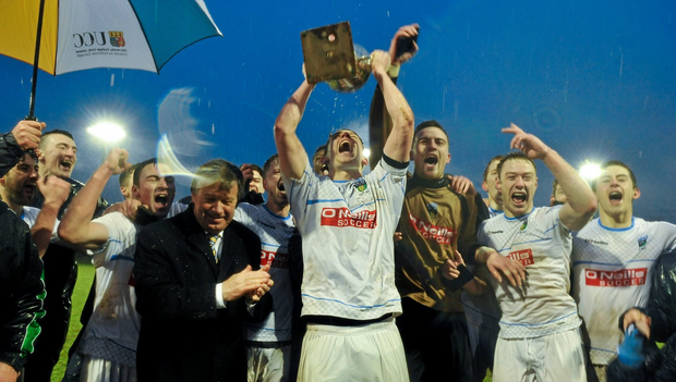 University College Dublin captain Gary O'Neill lifts the cup (SPORTSFILE)